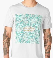 Adventure is Calling – Turquoise & Gold Palette Men's Premium T-Shirt