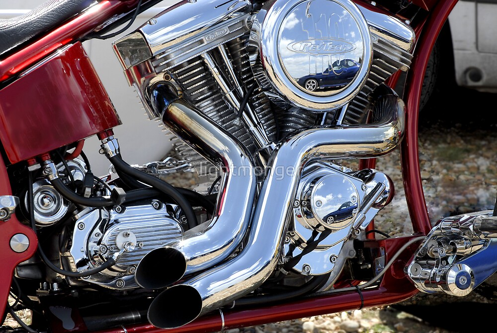 Custom V twin Motorcycle Engine by lightmonger