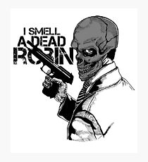 Black Mask: I Smell A Dead Robin Photographic Print