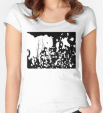 Abstract Black and White Rorschach Women's Fitted Scoop T-Shirt