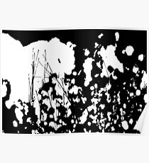 Abstract Black and White Rorschach Poster
