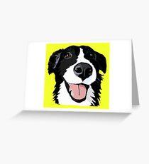 Smiley-Collie Grußkarte