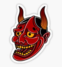 Japanese Hannya Devil Noh Mask Sticker