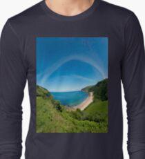 Kinnagoe Bay Panorama Long Sleeve T-Shirt