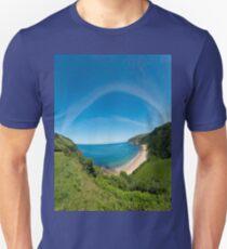 Kinnagoe Bay Panorama Unisex T-Shirt