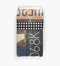 Abstract Industrial Art - Typography Duvet Cover
