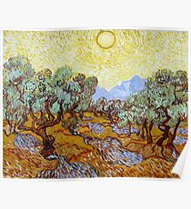 """Van Gogh """"Olive Trees with Yellow Sky and Sun"""", 1889 Poster"""