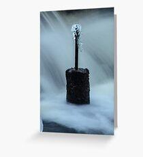 Frozen Pillar Greeting Card