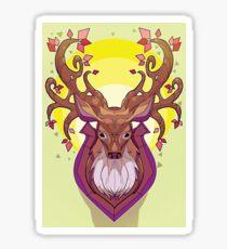 deer head  Sticker