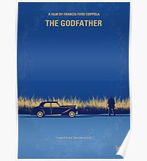 No686-1- Godfather I minimal movie poster Poster