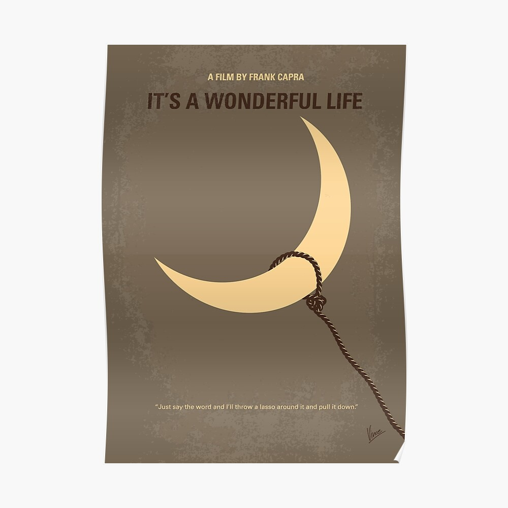No700 - Es ist ein Wonderful Life minimales Filmplakat Poster