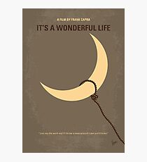 No700- Its a Wonderful Life minimal movie poster Photographic Print