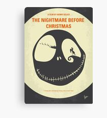 No712- The Nightmare Before Christmas minimal movie poster Canvas Print