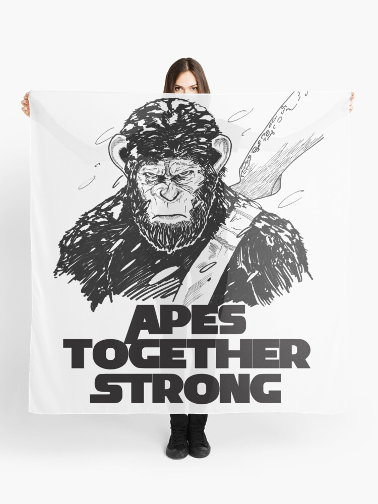 Apes Together Strong Caesar Planet of the War Down iphone case