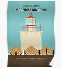 No760- Moonrise Kingdom minimal movie poster Poster