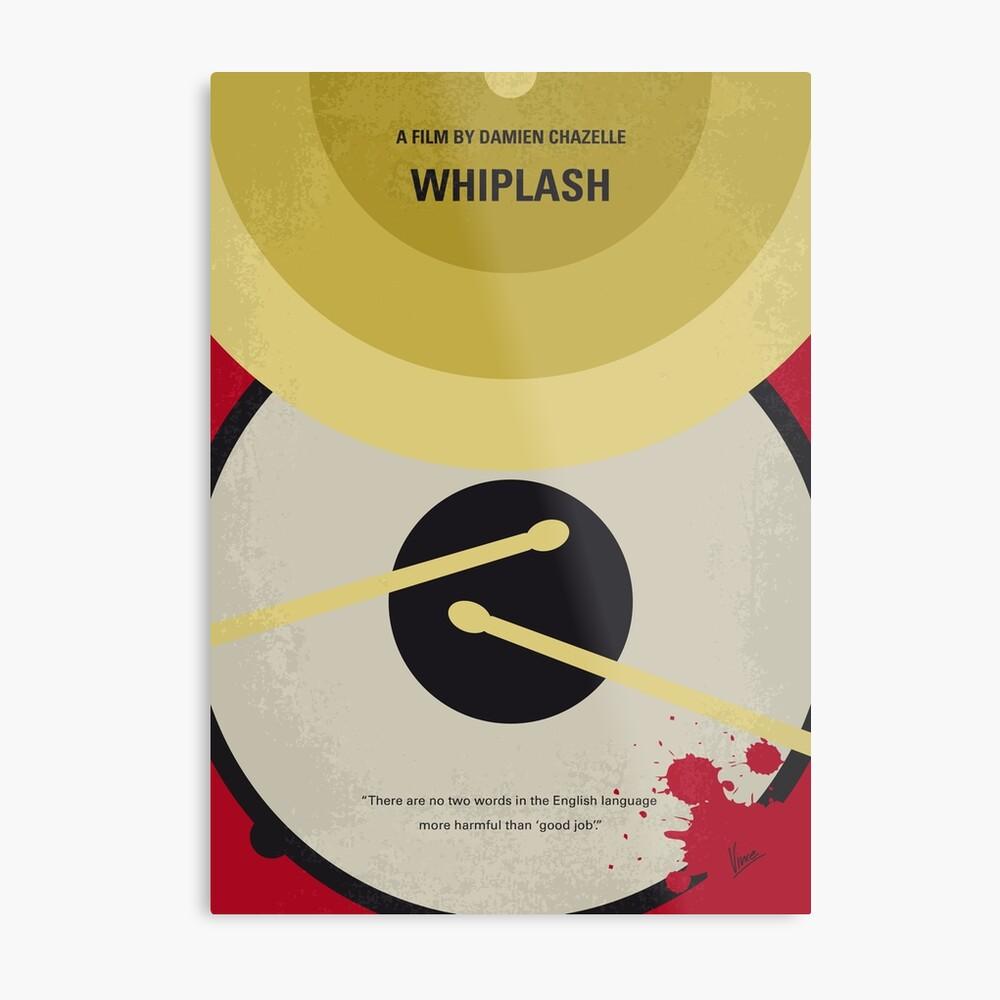 No761- Whiplash minimales Filmplakat Metallbild
