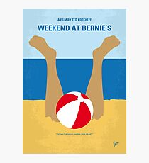 No765- Weekend at Bernies minimal movie poster Photographic Print