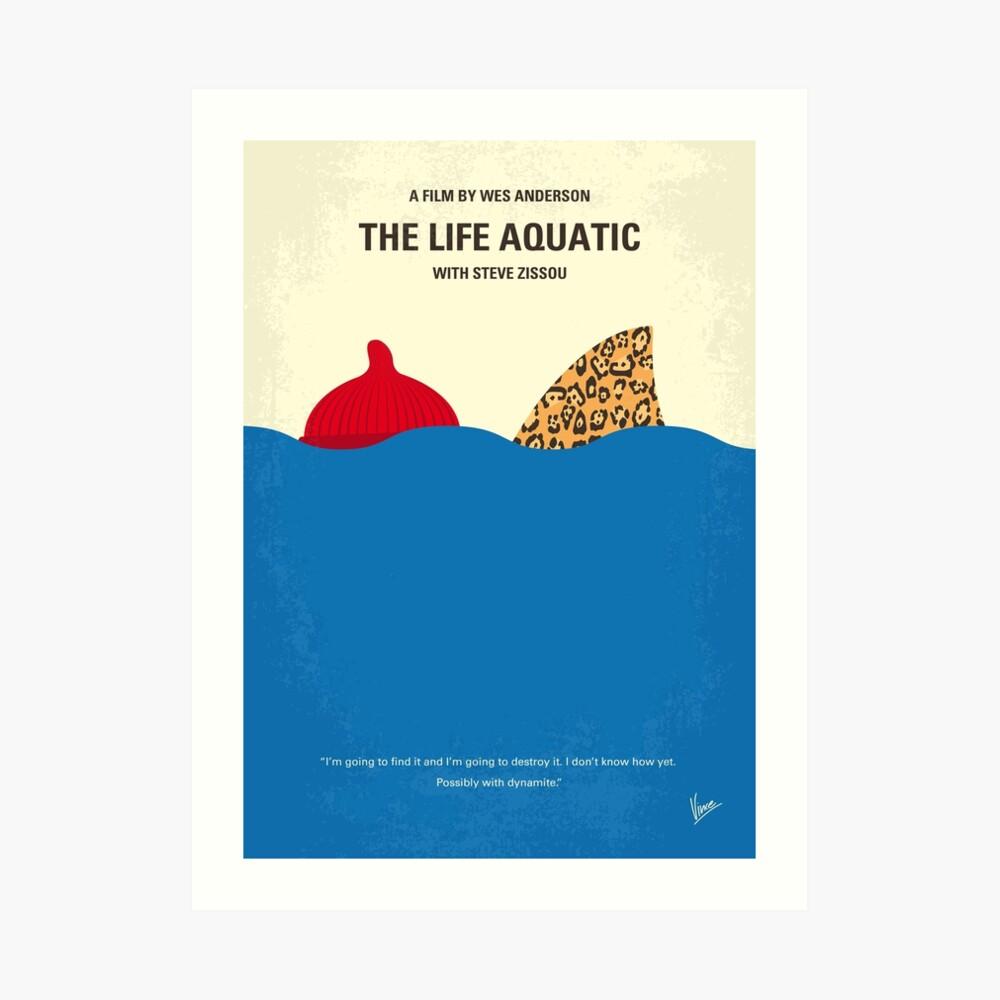 No774 - Das Leben Aquatic mit Steve Zissou minimales Filmplakat Kunstdruck