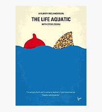 No774- The Life Aquatic with Steve Zissou minimal movie poster Photographic Print