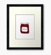 Animation Jar Bumper Framed Print