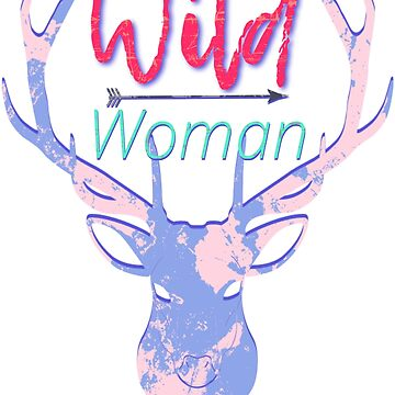 Wild Woman Huntress Pink and Purple Camo Design by JennitechDesign