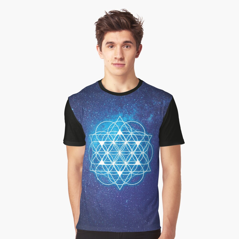 Sacred Geometry Graphic T-Shirt Front