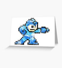 MEGA MAN 8BIT VINTAGE Greeting Card