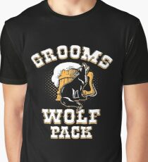 Grooms Wolf Pack Shirt Graphic T-Shirt