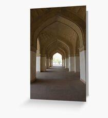 Mughal door ways Greeting Card