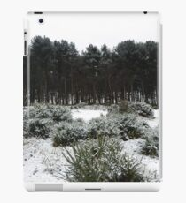 Snowy Hillside Bushes And Woodland Tuft Of Trees iPad Case/Skin