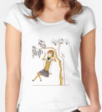 Doll Girl Characters Art Style Love Women's Fitted Scoop T-Shirt