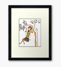 Doll Girl Characters Art Style Love Framed Print