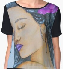 [Kissed by the rythm] Watercolorpainting Women's Chiffon Top