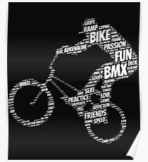 BMX Words Poster