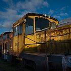 Big Yellow Diesel Locomotive by Clare Colins