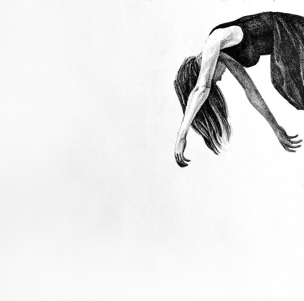 My wings, 2015, 50-50cm, graphite crayon on paper by oanaunciuleanu