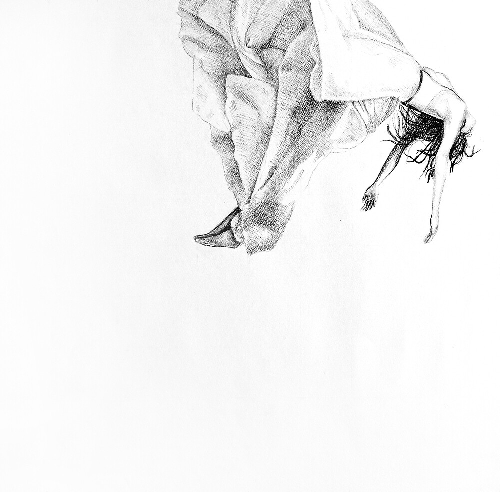 Floating on Clouds, 2015, 50-50cm, graphite crayon on paper by oanaunciuleanu