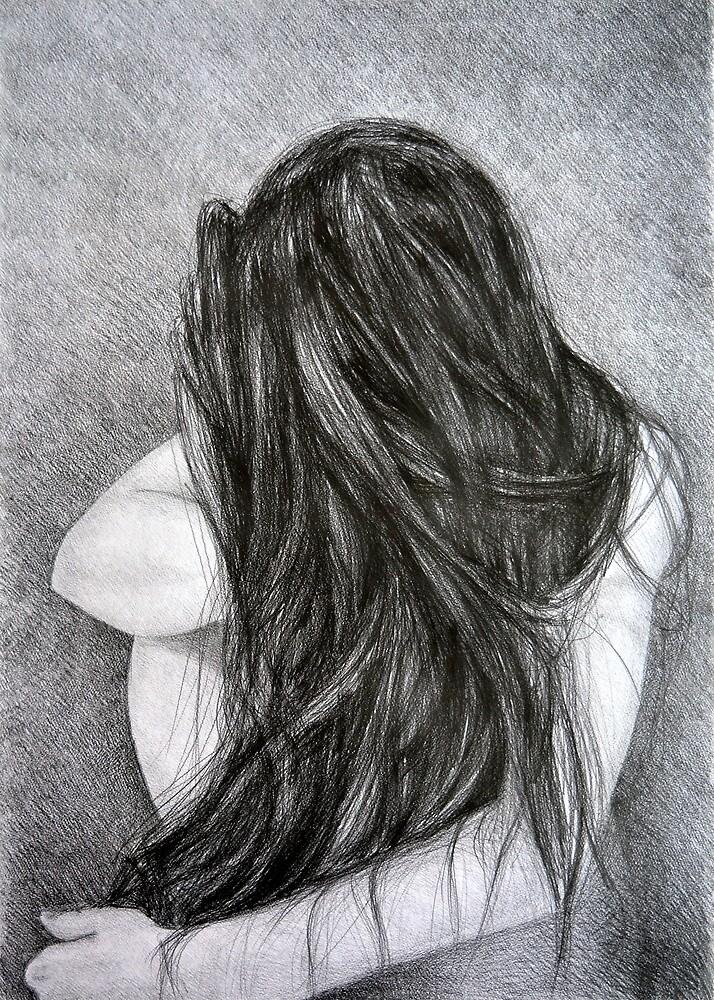 Farewell, 2015, 50-70cm, graphite crayon on paper by oanaunciuleanu