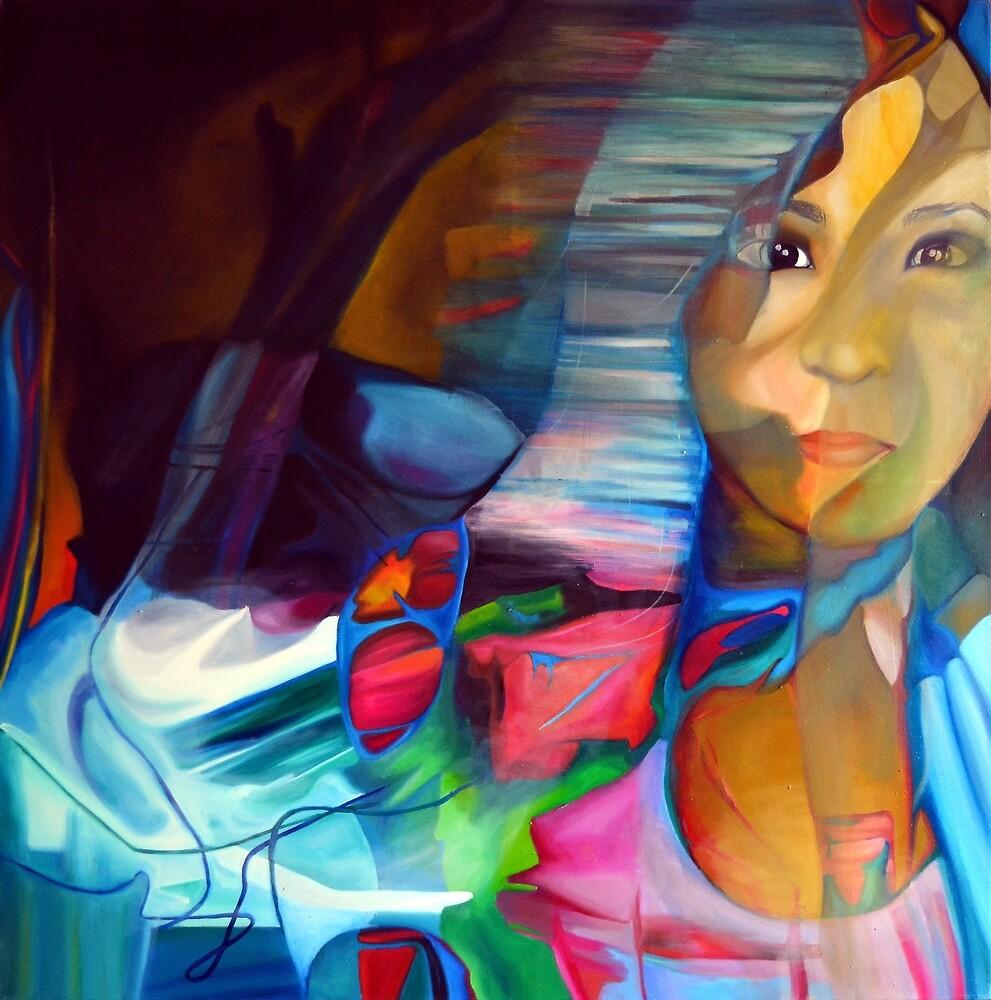 Drifting Memories, 100-100cm, 2015, oil on canvas by oanaunciuleanu