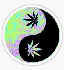 Ying Yang Cannabis Sticker