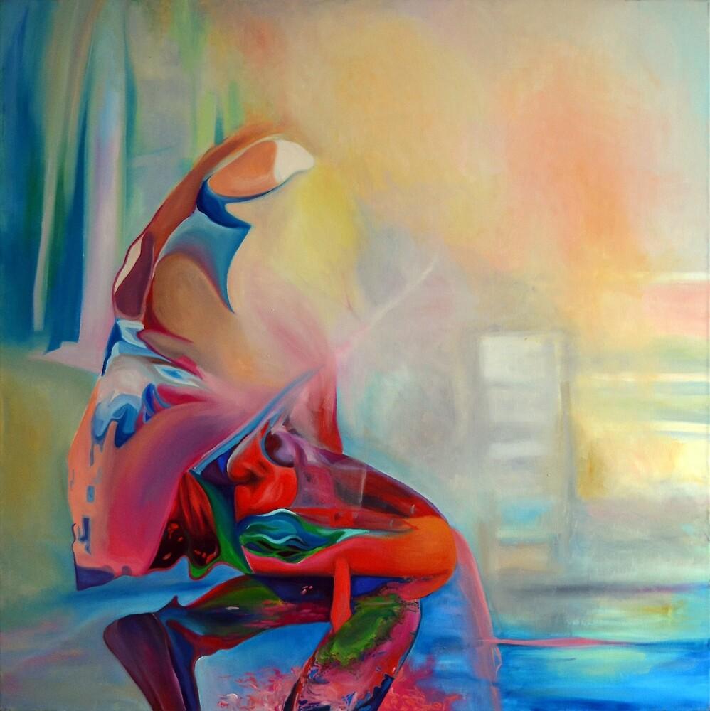 Dancing soul, 100-100cm, 2015, oil on canvas by oanaunciuleanu