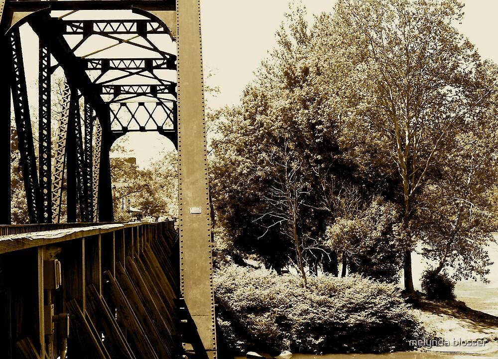 sepia warf district bridge by melynda blosser