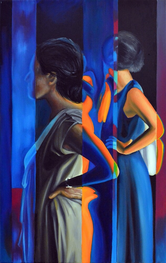 Cumulative Frequency, 50-80cm, 2015, oil on canvas by oanaunciuleanu