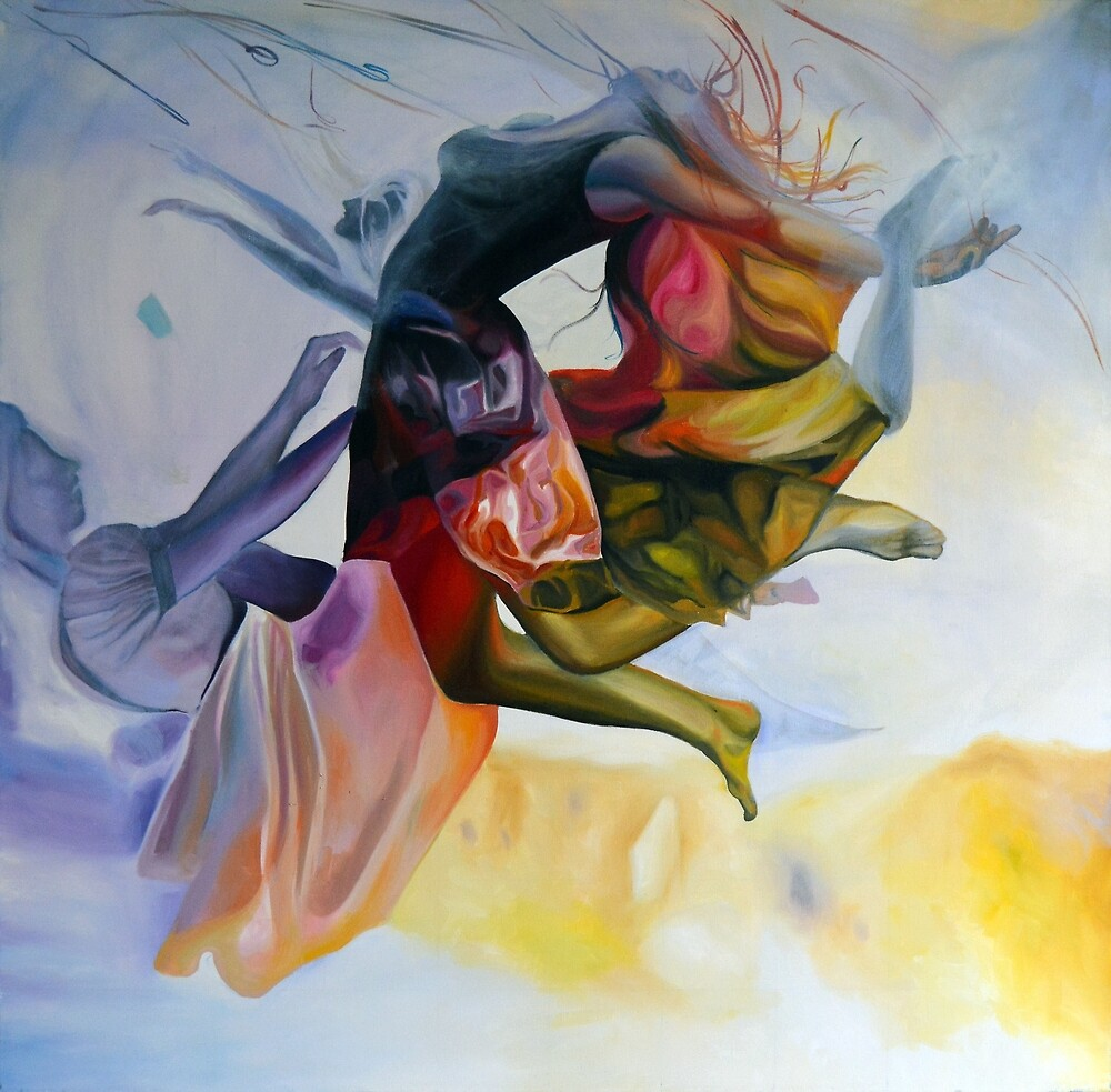 Blossoming, 100-100cm, 2015, oil on canvas by oanaunciuleanu