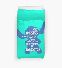 Stitch Ohana means family Duvet Cover