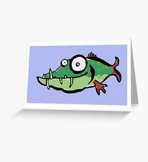 A not so pretty fish Greeting Card