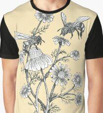 Bienen und Kamille auf Honig Hintergrund Grafik T-Shirt