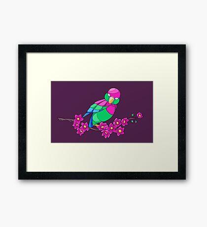 Pride Birds - Polysexual Framed Print