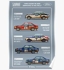 Ford Escort RAC Rally Tribute Poster