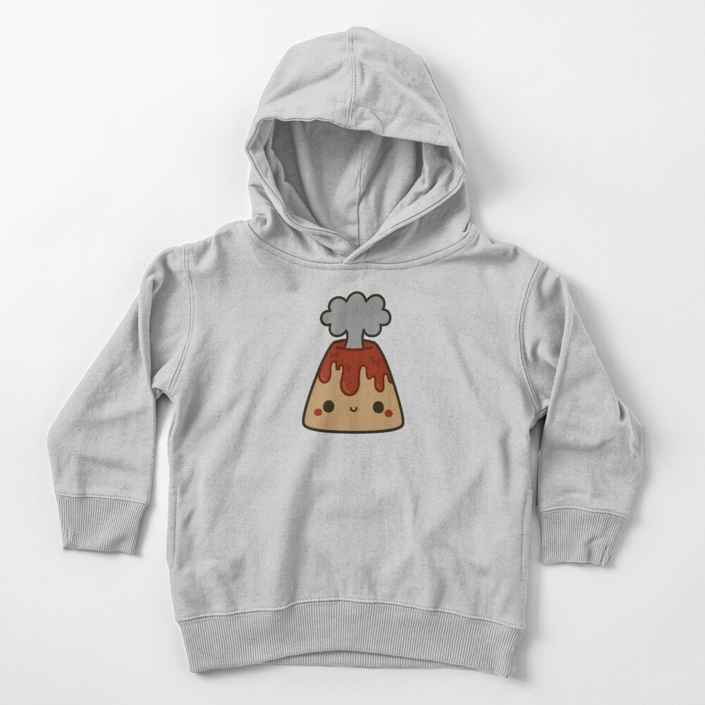Cute volcano Toddler Pullover Hoodie